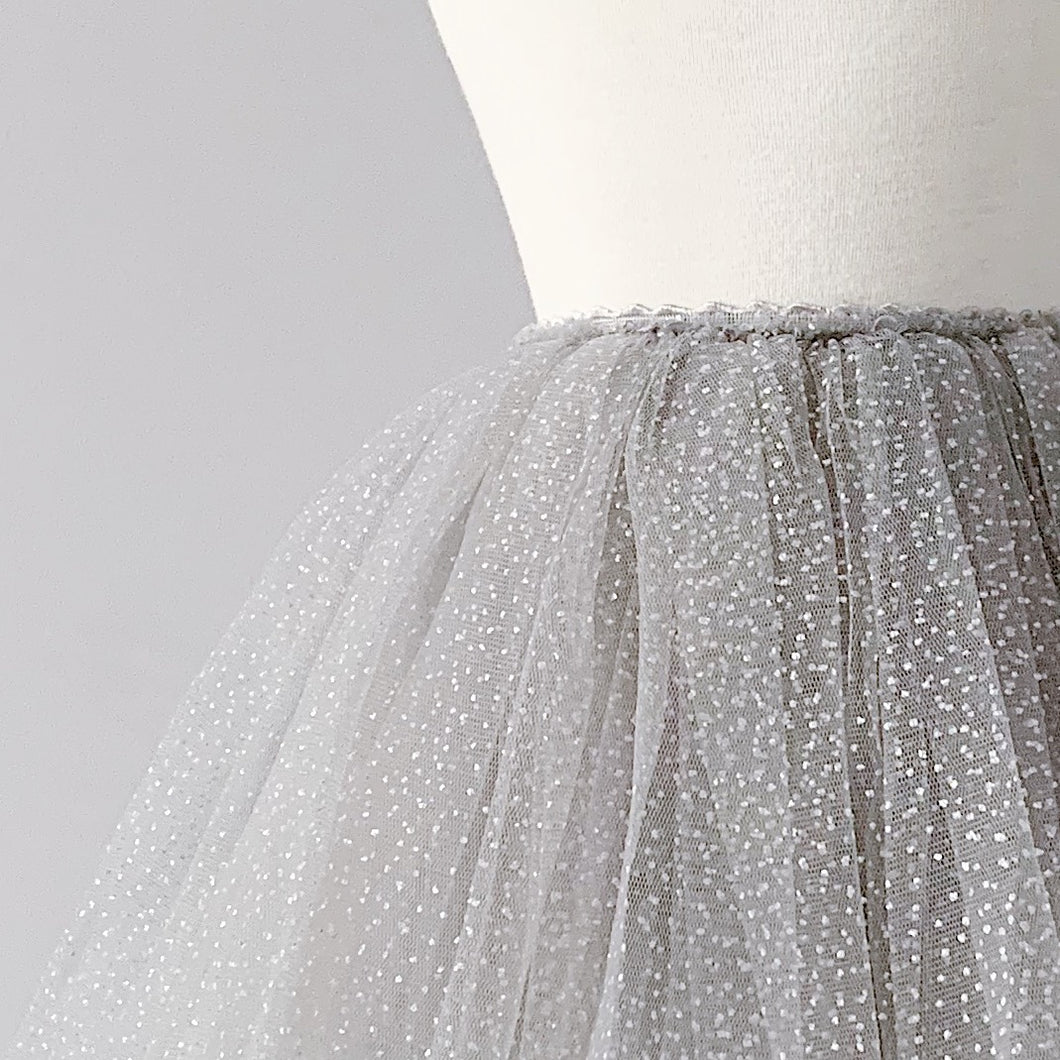 Snap-On Tutu - Sparkle Grey