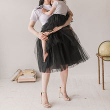 Load image into Gallery viewer, Mommy and me tutu matching tulle skirt black | BLUISH | Toronto Canada