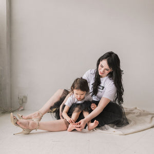 Mommy and me tutu matching tulle skirt black | BLUISH | Toronto Canada