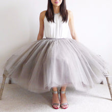 Load image into Gallery viewer, Vintage Celine Charcoal Matching Tutu Tulle Skirt BLUISH Toronto Canada