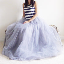 Load image into Gallery viewer, Grand Celine Smoke Gray Grey Matching Tutu Tulle Maxi Skirt BLUISH Toronto Canada