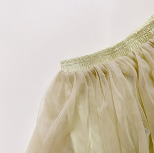 Soft Tulle Skirt in Herb Green