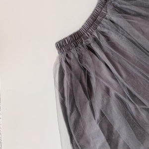 Classic Tulle Skirt in Slate Grey