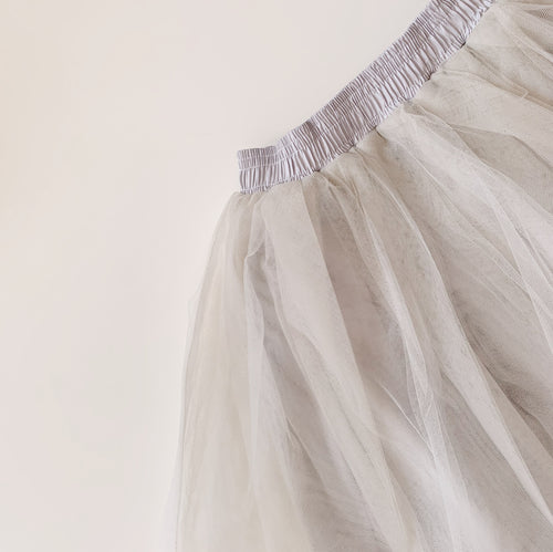 Classic Tulle Skirt in Ash Grey