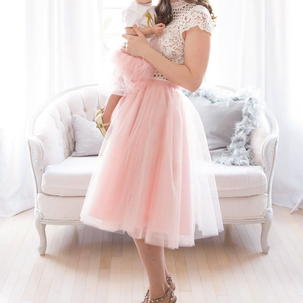 Mommy and me tutu matching tulle skirt pink | BLUISH | Toronto Canada