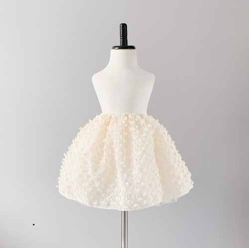 Baby Teddy Tutu - French Cream