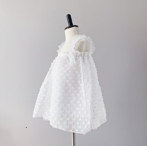 Baby Teddy Dress - White