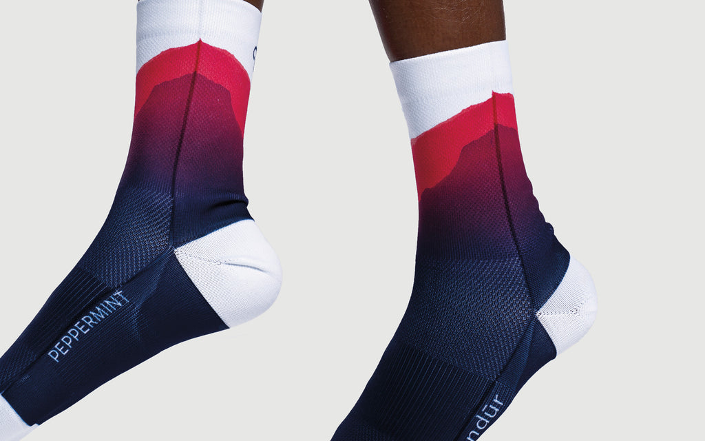 Sunset Navy Socks