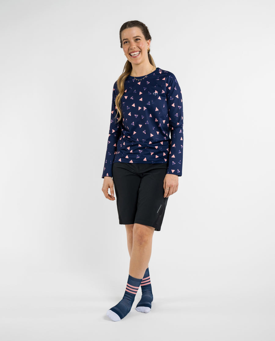 Peak Navy Trail Signature LS Jersey