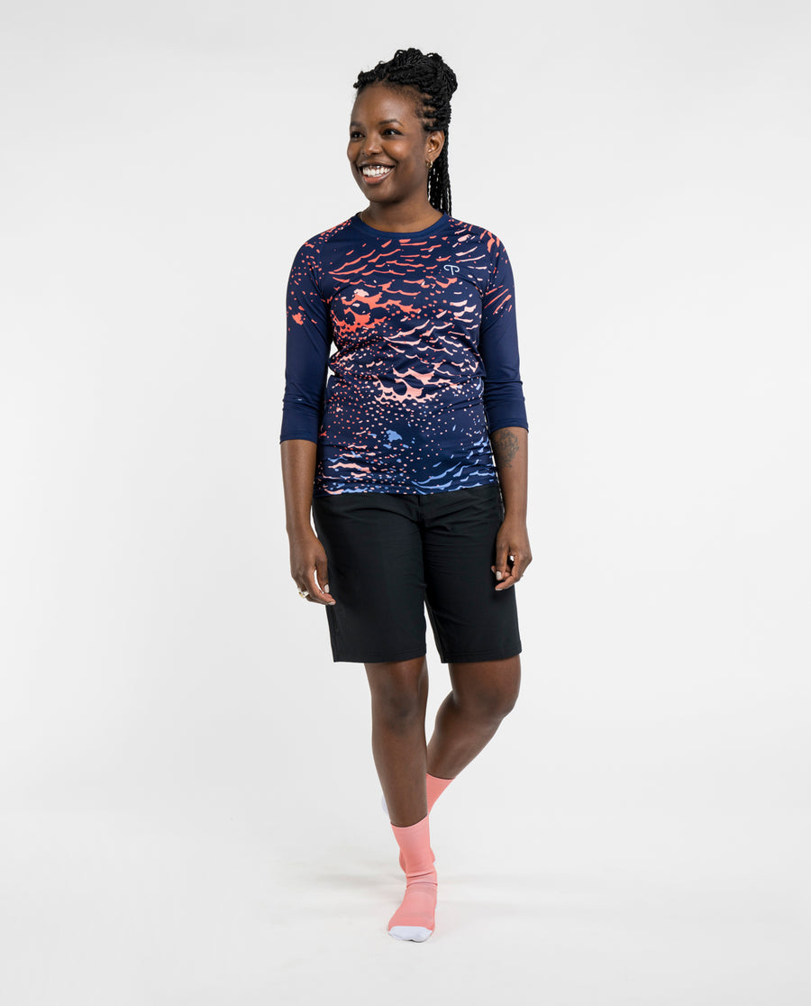Plume Navy Trail Signature 3/4 Jersey