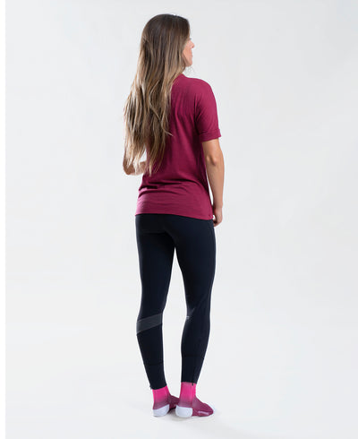 Merino Tee Base Layer Burgundy