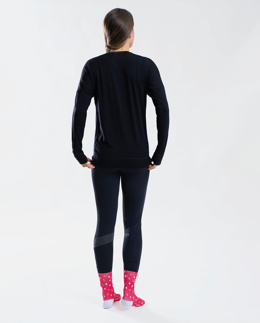 Merino LS Base Layer Black