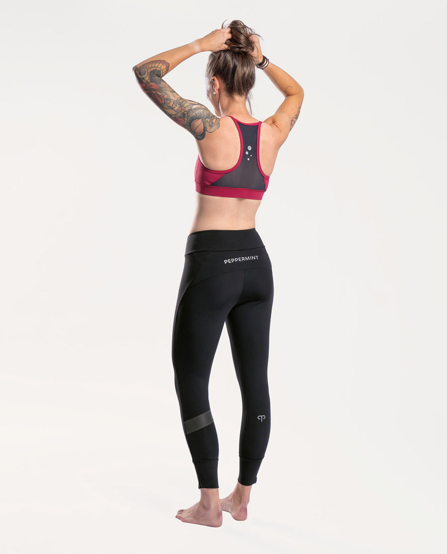Mellow Burgundy Sports Bra