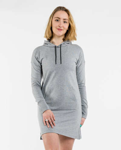 Heather Grey Mellow Hoodie Dress