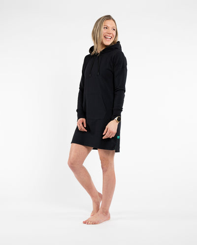 Black Mellow Hoodie Dress