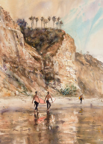 Three Surfers on Blacks Beach/SOLD