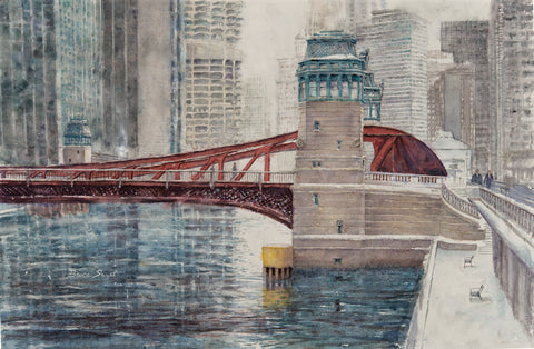 Available: Almost Ice: Chicago River Bridge