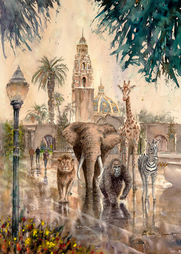 Safari Animals on a stroll in Balboa Park