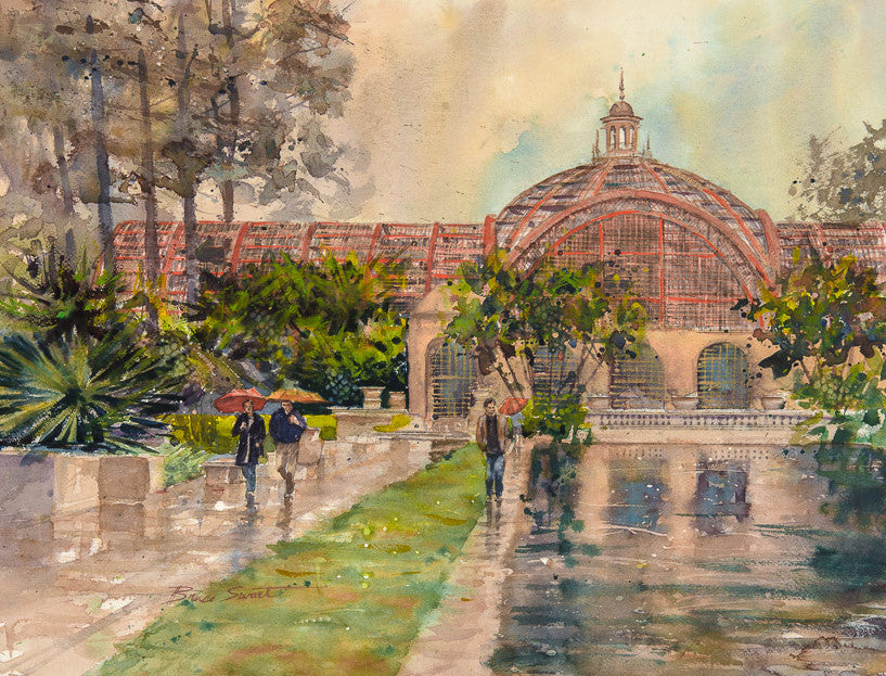 Botanical Building and pond at Balboa Park. SOLD