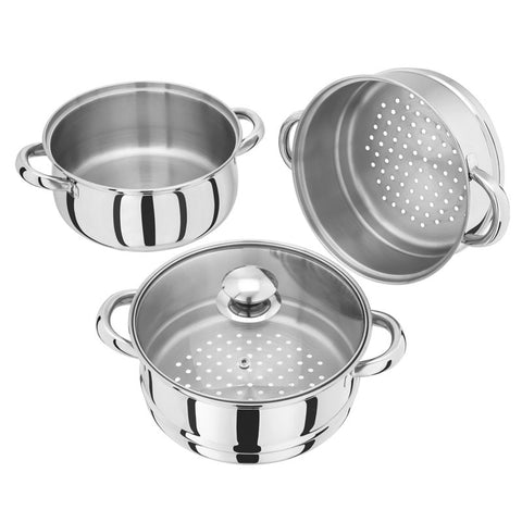 Judge 3 Piece 20cm Steamer With Glass Lid