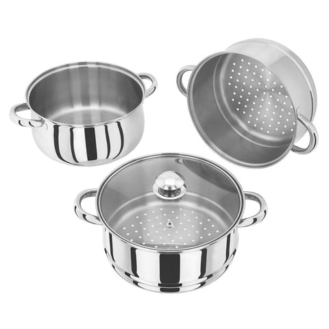 Judge 3 Piece 24cm Steamer With Glass Lid