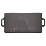 KitchenCraft Deluxe Cast Iron Griddle 45cm x 23cm - Cook N Dine