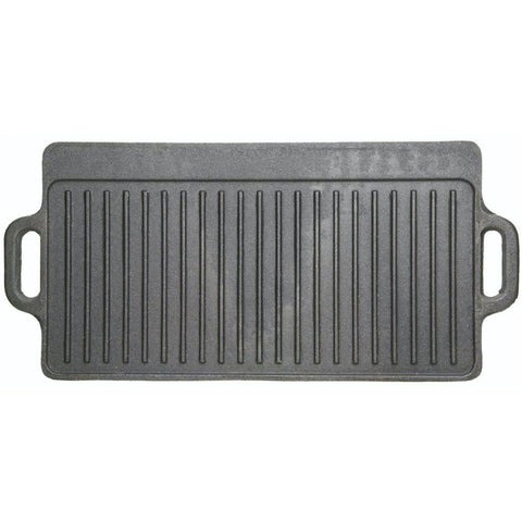 KitchenCraft Deluxe Cast Iron Griddle 45cm x 23cm