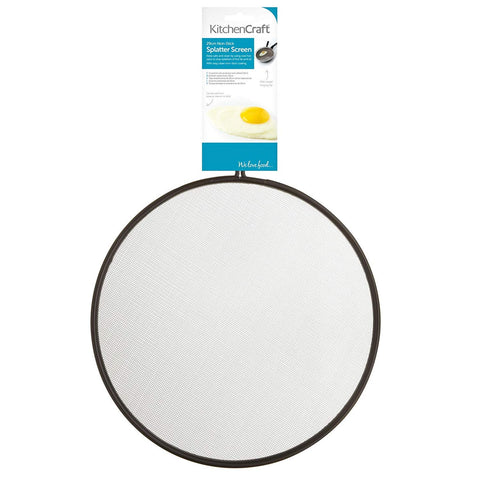 KitchenCraft Black Non Stick Splatter Screen 29cm