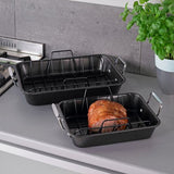 Stellar Non Stick Roasting Pan & Rack - Cook N Dine