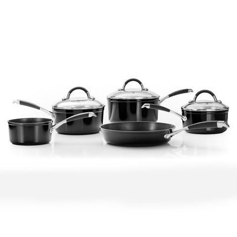 Stellar 3000 5 Piece Pan Set - Black
