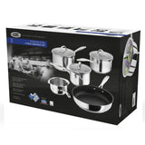 Stellar 7000 5 Piece Pan Set Draining Stainless Steel - Cook N Dine