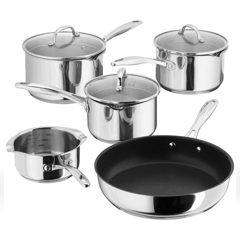 Stellar 7000 5 Piece Pan Set Draining Stainless Steel