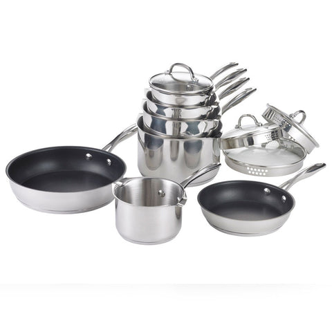 Stellar 7000 5 Piece Saucepan Pan Set Stainless Steel