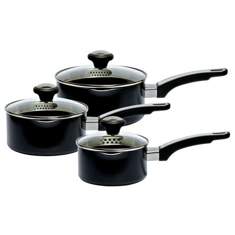 Prestige Everyday Aluminium Straining 3 Piece Pan Set