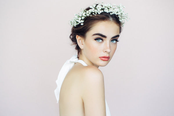 wedding hairstyles for thin hair - flower crown
