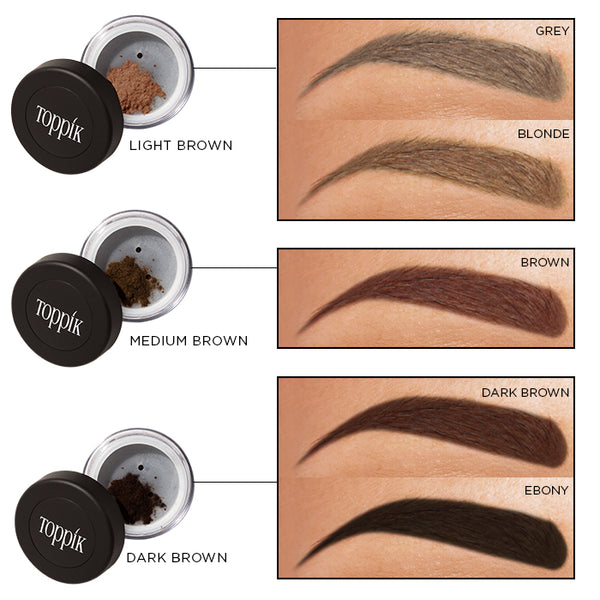 Toppik Brow Color Match Chart