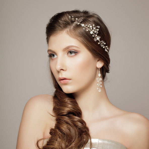 wedding hairstyles for thin hair - side twist with accessoriesv