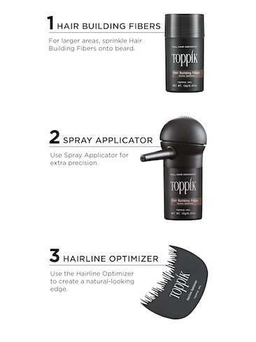 get the perfect beard with toppik