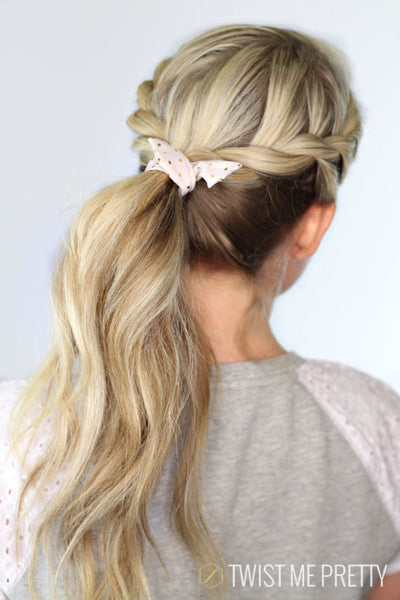 twisted braid ponytail blonde hair back favorite holiday hairstyles toppik hair blog
