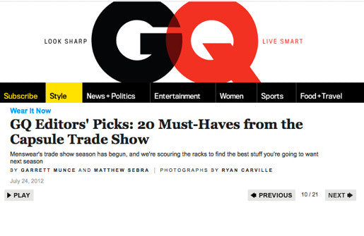 GQ TOP 20 MUST HAVES