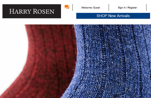 NEW FALL COLLECTION AT HARRY ROSEN