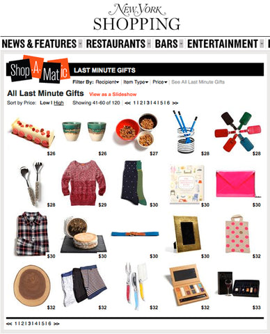 NEW YORK MAGAZINE GIFT GUIDE, HOLIDAY 2011