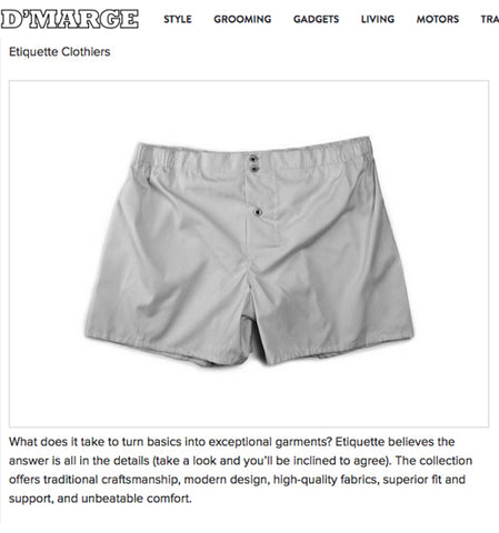 D'MARGE INSIDER'S GUIDE TO MEN'S UNDERWEAR