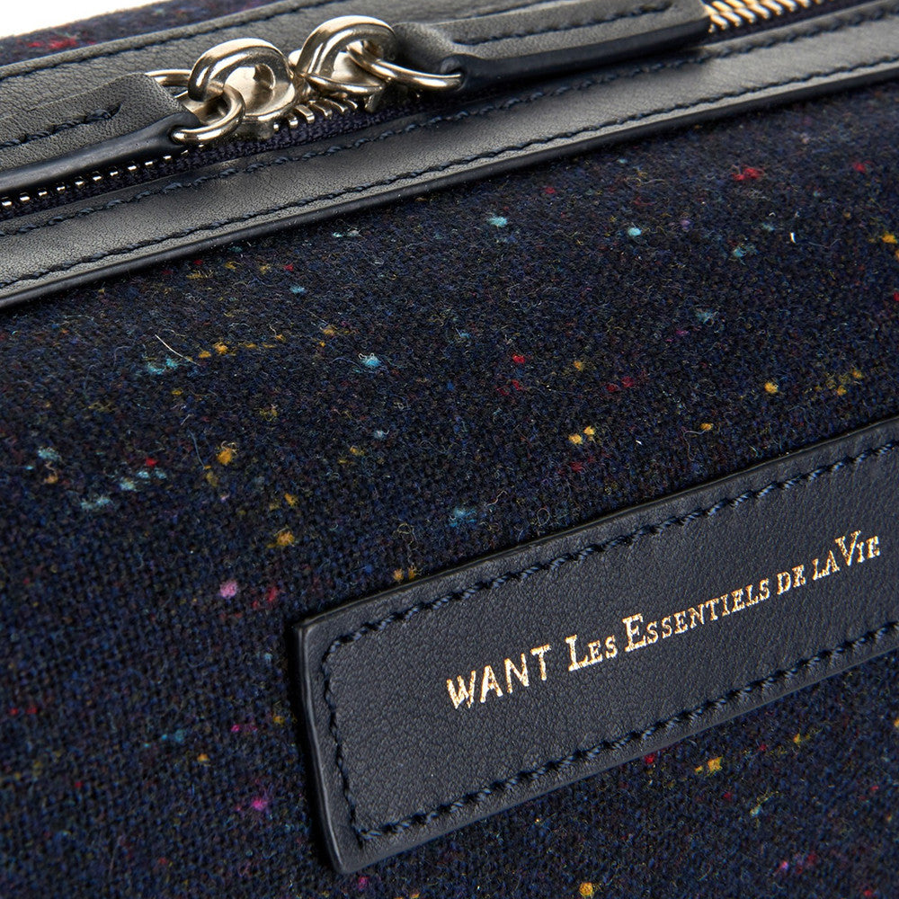 Kenyatta Dopp Kit Speckled/Navy - Want Les Essentiels de la Vie -  - global.etiquetteclothiers.com - global.etiquetteclothiers.com