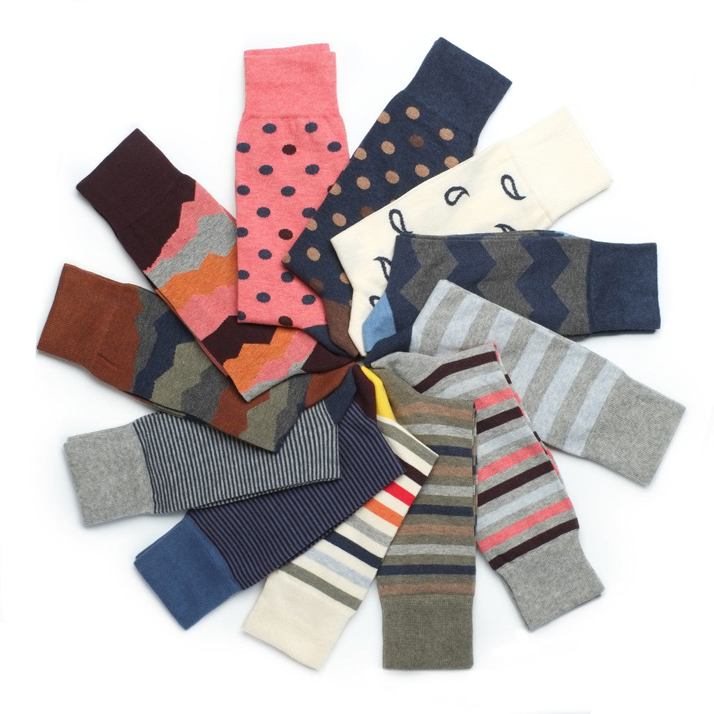 The 12 Pair Sock Subscription - Combed Cotton - Socks - Etiquette - Etiquette Clothiers NA