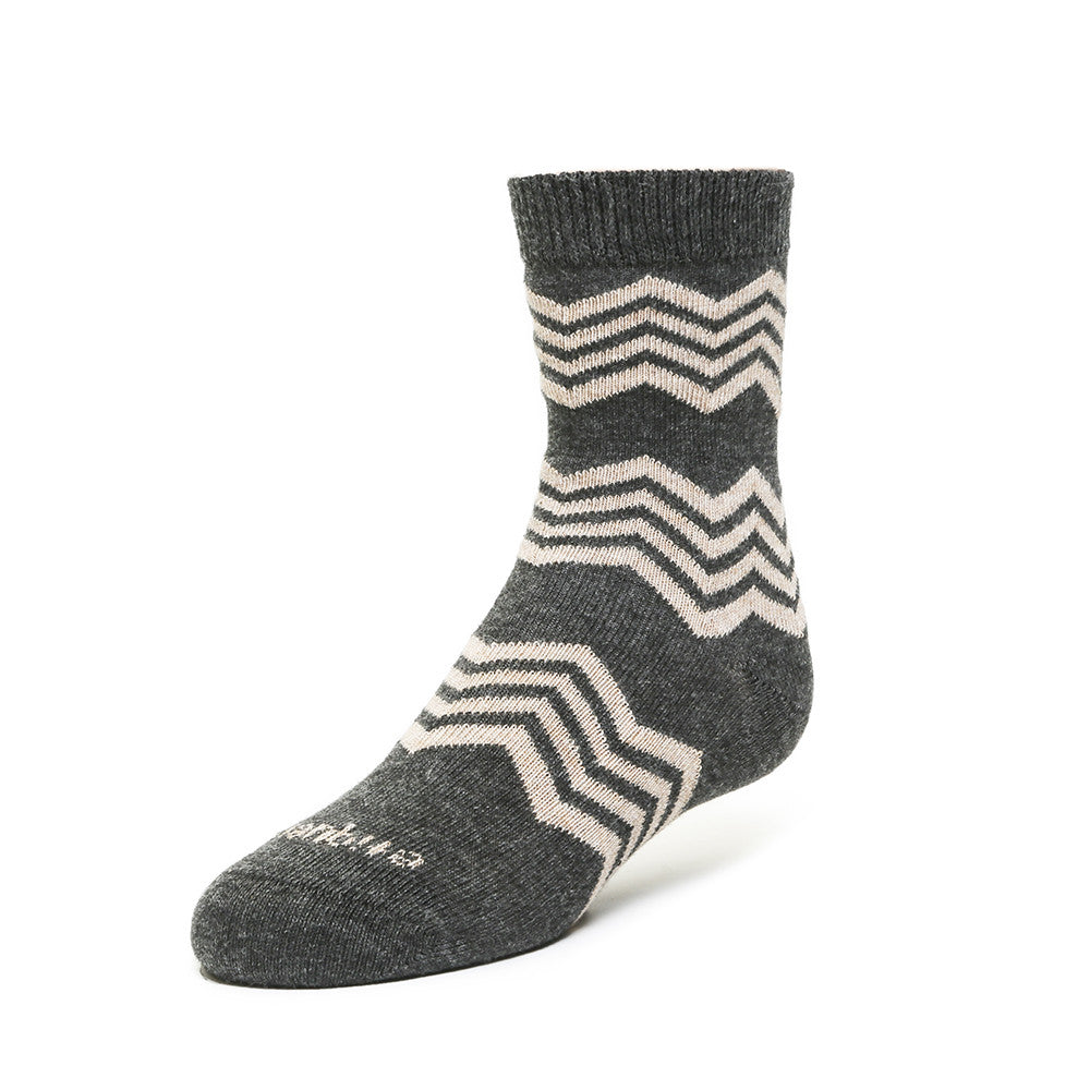 Alpine Stripes - Vintage Brown Heather - Kids Socks - Etiquette - Etiquette Clothiers NA