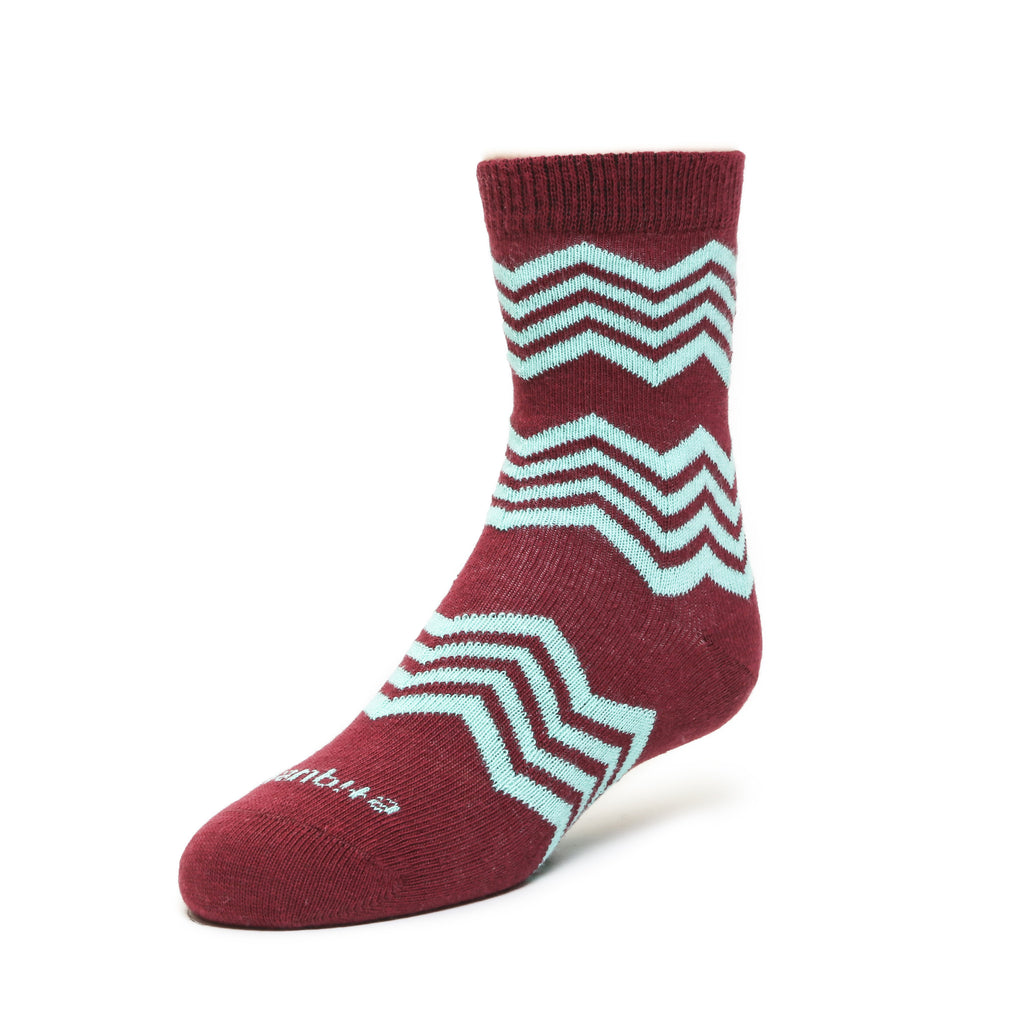 Alpine Stripes - Vino - Kids Socks - EtiquetteSale - Etiquette Clothiers NA