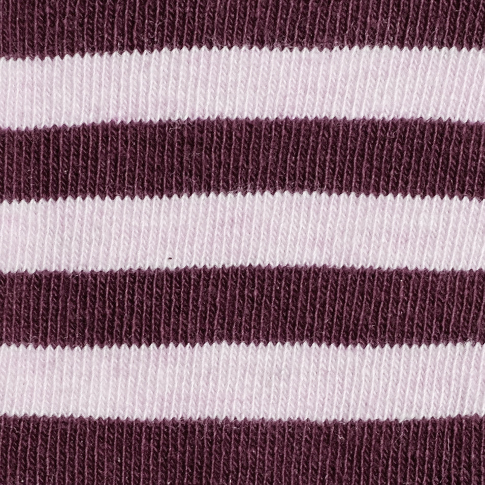 Abbey Stripes - Pink Heather - Kids Socks - Etiquette - Etiquette Clothiers NA