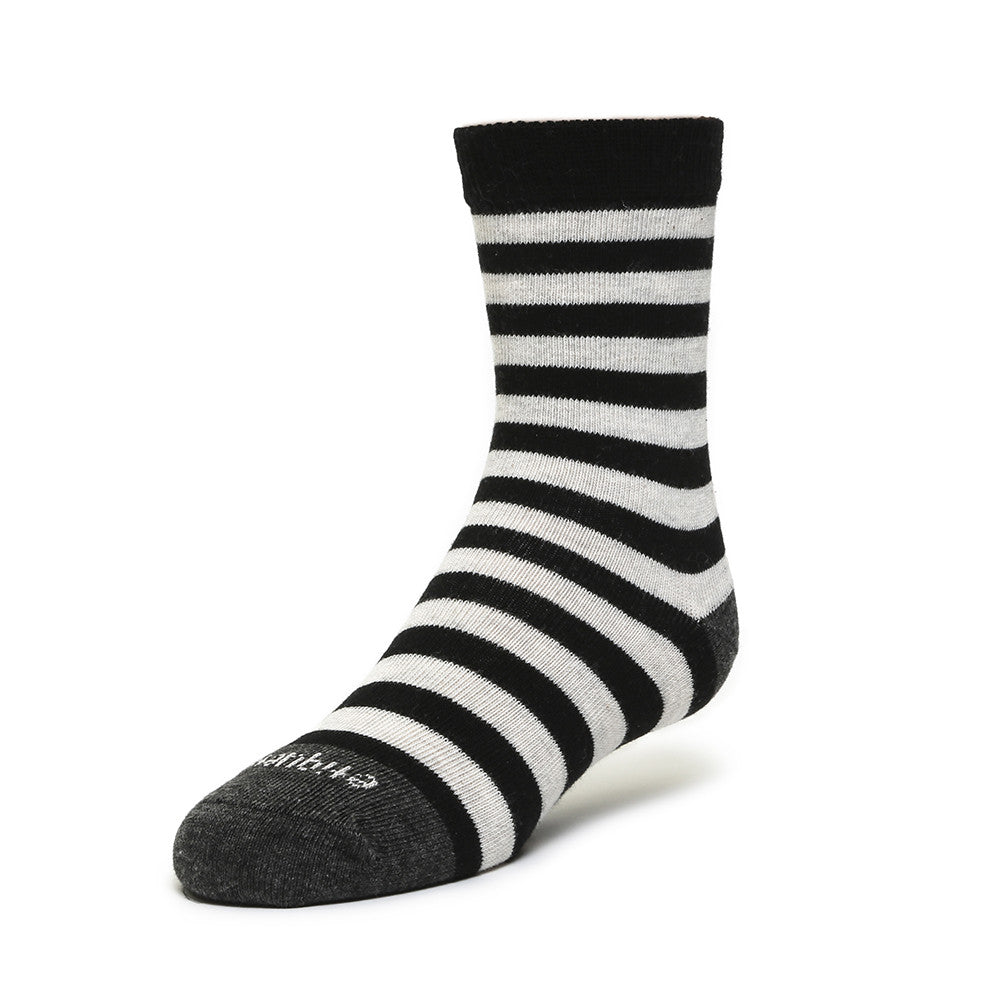 Abbey Stripes - Tux Black - Kids Socks - Etiquette - Etiquette Clothiers NA