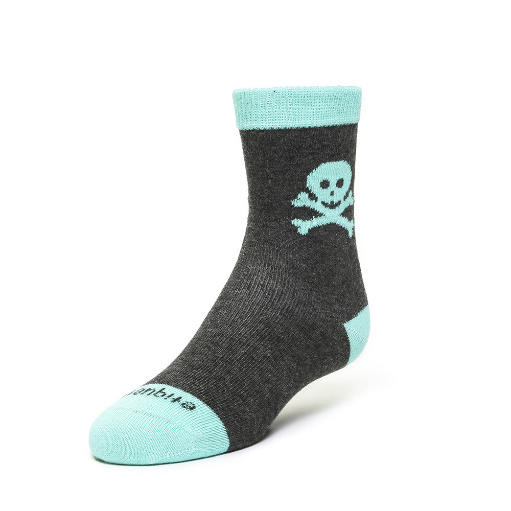 Crossbones - Dark Grey - Kids Socks - Etiquette - Etiquette Clothiers NA